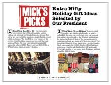 Mick's Picks